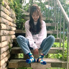 배우 김보라 - Pattern Socks(Argyle Flower)